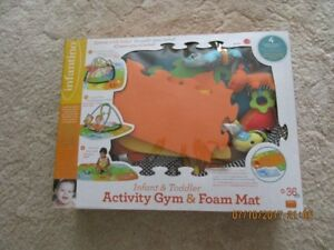 Gently used Activity Gym & Foam Mat Set - $15