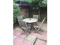 Wooden garden dining set