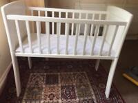 Small space saver cot bed with mattress