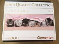 Clementoni 39127 Kittens under blanket 1000 Pieces Panorama Puzzle for sale