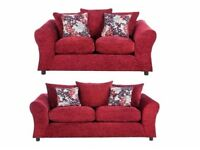 3 seater sofa   Red   Free delivery within 10 miles   Perfect
