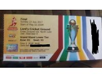4x Cricket World Cup Final tickets: England V India. ICC @ LORDS.