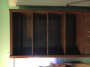 Brown wooden bookcase