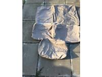 Set of five outdoor cushion covers