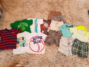 Toddler boys size 18-24m shirts and shorts