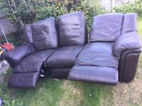 Leather recliners sofa