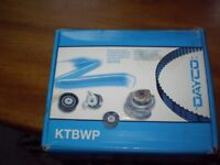 TIMING BELT KIT WITH WATER PUMP TO FIT ASTRA1.4 AND 1.8 ZAFIRA VECTRA NEW STILL IN BOX