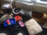 Cat/ kitten BUNDLE bedding, toys etc BARGAIN
