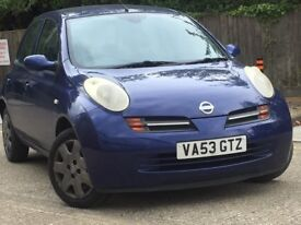 NISSAN MICRA 1.2 16V SE 5DR (02 - 07)***12 MONTHS MOT***FULLY AUTOMATIC***LOW MILEAGE***