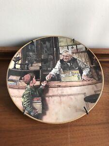 EUC Norman Rockwell Plate