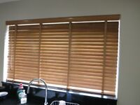 Solid wooden slat blinds in great condition