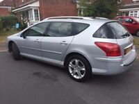 Peugeot 407 SW 2.0 HDi Sport 5dr FSH from Peugeot, LEATHER, SAT NAV, AUTOMATIC