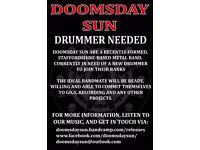 Drummer wanted for Doom/Prog Metal band (Staffordshire-area)