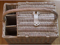 Wicker picnic hamper, includes plates, cuttlery, cool bag and champagne flutes