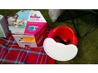 USED BUMBO SEAT / RED WITH BOX