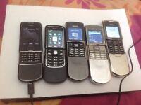NOKIA 8 CLASSIC PHONES-NOKIA 8800 ARTE,NOKIA 8600 LUNA,2X NOKIA 8800 sirocco,8910i,8800,8810,8910
