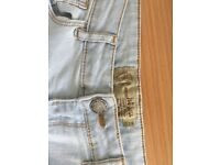 Size 12 fat face light blue jeans