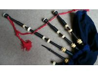 David Glen Cocus Wood Full REAL MOUNTED Bagpipes