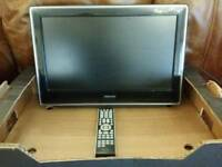 "Toshiba 22"" TV with built in DVD and remote control"