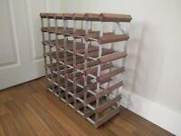 Wood & Metal Wine Rack
