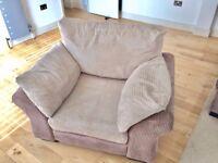 Large Soft Cord Luxury Armchair