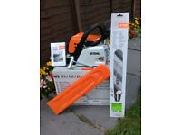 "STIHL MS211 CHAINSAW BNIB BRAND NEW 18"" bar and chain.£250."