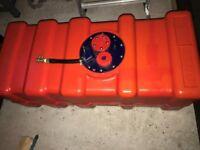 PLASTIC FUEL TANK 70 LITRE RED BOAT RIB PETROL OR DIESEL