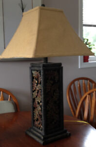 2 LARGE RUSTIC STYLE TABLE LAMPS