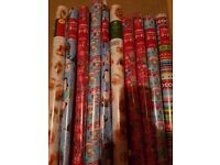 10 Christmas Wrapping Paper Rolls house clearance - Collect Stockport