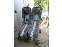 Maclaren Twin Techno pushchair in Sky Blue colour
