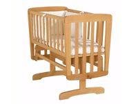 Mamas & Papas Wooden Crib w/ Mattress