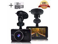"Senwow Dash Cam (With 32GB SD Card), 1080P Full HD 3.0"" LCD Metal Shelled Car Camera"