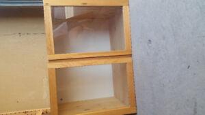 IVAR Ikea glass cabinets
