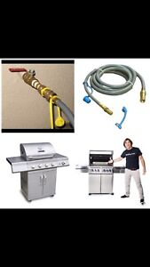Gasline installation available for BBQ