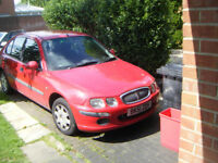 Rover 25 il 16v 1396 cc 5 door h/b,51 reg,mot end sep,no advises,s/hist,new alternator/belt/tyres,