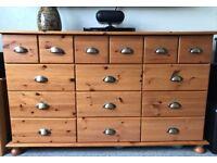 Medium Pine Wood Sideboard