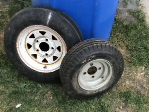 12 inch  and 8 inch trailer tires