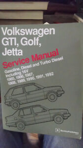 Bentley Service Manual VW GTI, Golf, Jetta '85-'92