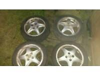 Vauxhall alloys 4x 4 stud 195/50/15