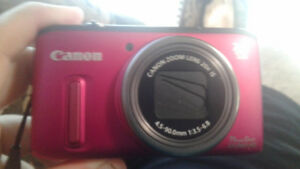 Canon power shot camera (hot pink)