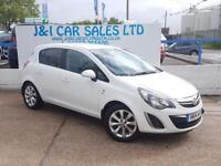 VAUXHALL CORSA 1.4 EXCITE AC 5d 98 BHP A GREAT EXAMPLE INSIDE AND (white) 2014