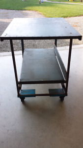 """Work Bench 48"""" x 36"""" x 39.5"""" tall with casters"""