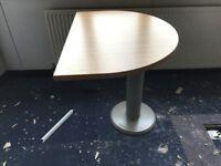 WOODEN HALF MOON OFFICE DESK - 4 available