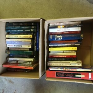 2 boxes of books