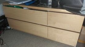 TV Cabinet / Unit with 4 Drawers