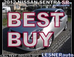 2012 NISSAN SENTRA SR  [SPORTIER more Premium- -NO ACCIDENTS!