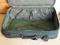 Gobe Trotter suitcase, light weight, well made, two wheels, expands. Excellent condition