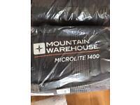 Mountain warehouse sleeping bag brand new