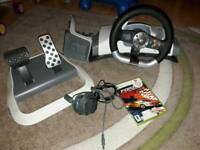 XBOX 360 Steering wheel and forza 2
