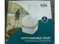 ROYAL PORTA POTTI 21 LITRE PORTABLE TOILET NEW IN BOX